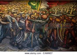 giant mural by mexican artist david alfaro siqueiros chapultepec