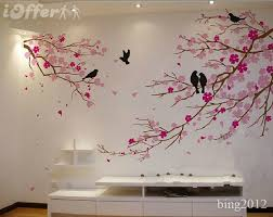 Japanese Cherry Blossom Bathroom Set by Tree Wall Art Cherry Blossom With Birds Wall Decal Tree Wall