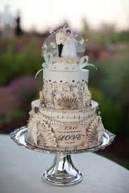 Musical Theme Wedding Cake Vintage Rustic Unique Paper Icing