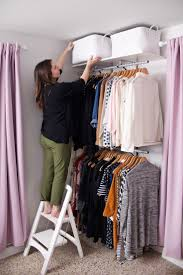 Creating An Open Closet System A Beautiful Mess Tiny BedroomsBedroom Ideas For Small SpacesWall