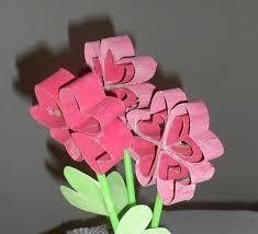 fleurs en rouleau de papier toilettes récupération la maison