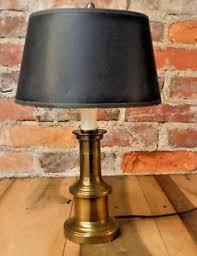Vintage Brass Lamp Finials by Vintage Brass Desk Lamp Accent Light 2 Bulb Acorn Finial Black