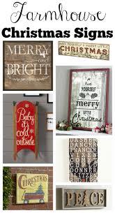 Christmas Home Decor Signs