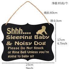 baby schlafen bitte nicht klopfen baby schlafen tür zeichen für kinderzimmer baby schlafzimmer holz hängen plaques dekorative zeichen