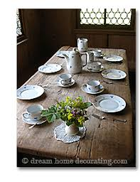 Rustic Table In A Swiss Mountain Chalet