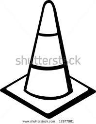 construction cone clipart stock vector traffic cone or toddler traffic cone clip art black and white