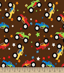 Monster Trucks Print Fabric | JOANN