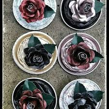 Rose Brooches Made From Used Nespresso Coffee Pods