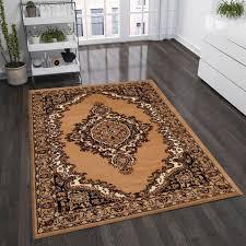 klassisch orient teppich dicht gewebt wohnzimmer braun beige