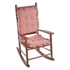 100 Rocking Chair Cushions Pink Klear Vu Gingham Ruffle DelightFill 2 Piece Cushion