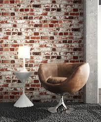 steintapete rot weiß rustikal natur stein schöne edle