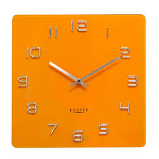 Baxter Square Glass Contemporary Wall Clock