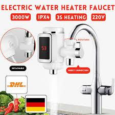 Elektrischer Wasserhahn Durchlauferhitzer 3000w Armatur 3000w 360 Rotation Bad Küche Armatur Durchlauferhitzer