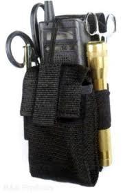 black nylon ham portable radio police emt ems duty belt loop