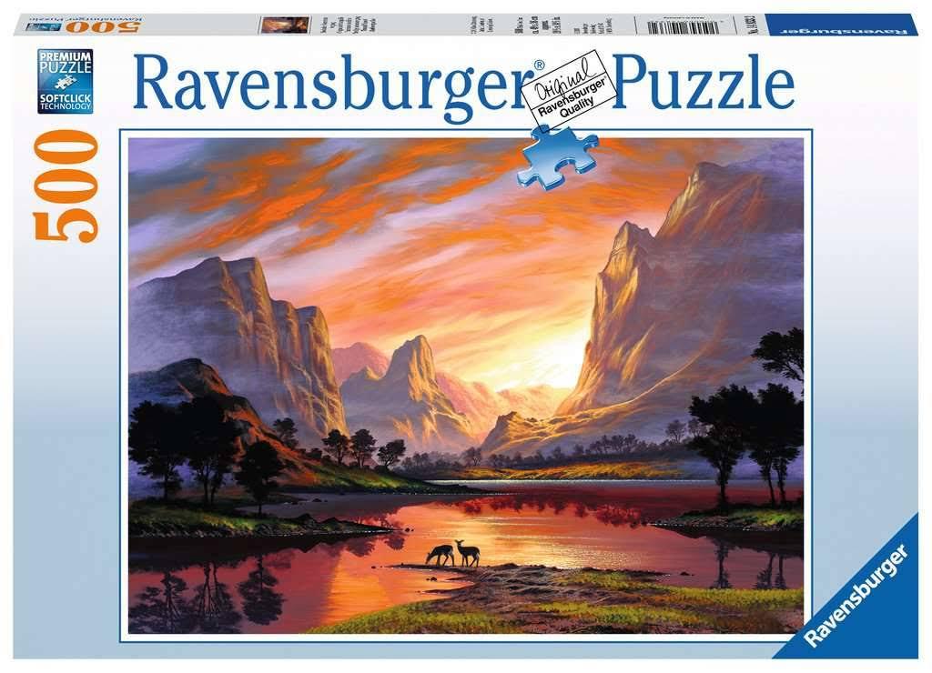 Ravensburger Tranquil Sunset 500 Piece Puzzle