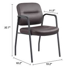 100 Reception Room Chairs Brown Amazoncom JUMMICO Guest Chair Leather Executive Side