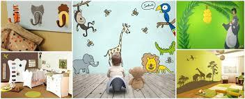 stickers jungle chambre bébé deco chambre bebe jungle stickers animaux pour chambre bacbac deco