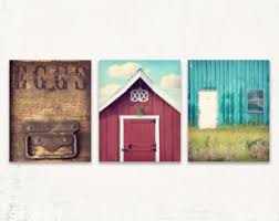 Kitchen Wall Art Rustic Decor SET Of THREE Prints Or Canvases