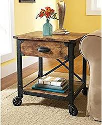 Better Homes And Gardens Rustic Country Side Table Antiqued Black Pine By