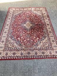 teppich rot wohnzimmer deko 170x260