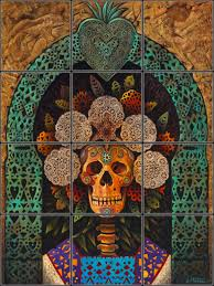 day of the dead decorative ceramic tile mural pacifica tile