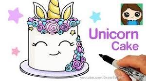 How To Draw A Unicorn Cake Easy