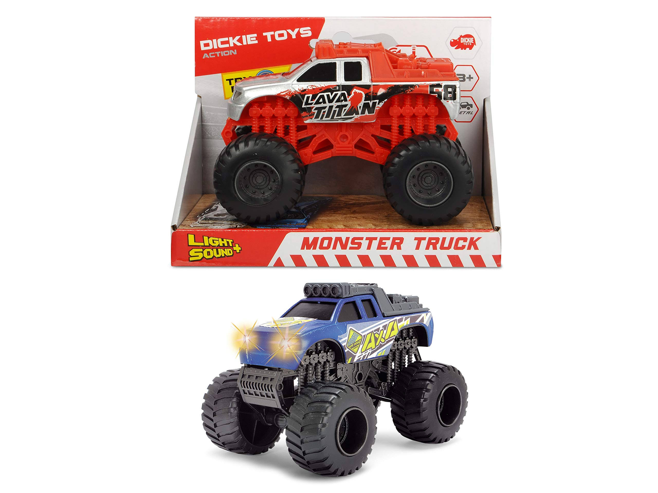 Dickie Toys Monster Truck - Assorted Colors, 2pcs