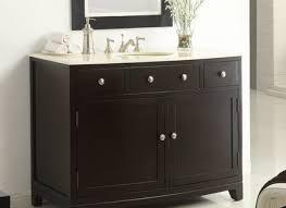 46 Inch Bathroom Vanity Without Top by 46 Bathroom Vanity Mediterranean With Black Trim Cabinets