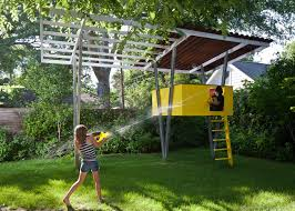 Treehouse One   BaldridgeARCHITECTS Our Work Tree Houses By Dave Modern Treehouse Designed As A Weekender In The Backyard For 9 Completely Free House Plans Funky Video Hgtv Cool Designs We Wish Had In Our Photos Steal This Look A Fort Gardenista Child Within Max Backyard Treehouse Scene Tree Incredible Treehouses You As Kid The Design Dome 25 Ideas Youtube
