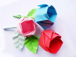 Picture Of DIY Origami Rose Step By