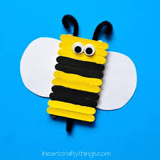 Simple And Cute Popsicle Stick Bee Kids Craft