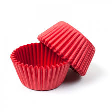 Red STANDARD Cupcake Cases 40 Pack