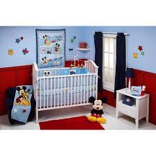 disney baby mickey mouse and pluto 4 piece crib bedding set