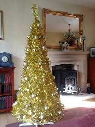 8ft Christmas Tree Ebay by 6ft Gold Pop Up Christmas Tree Pre Lit 150 White Led Lights