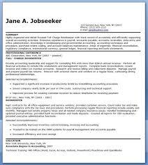 Bookkeeper Resume Sample Summary