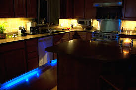 kitchen cabinet led lighting with additional blue color best