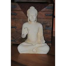 buddha figur groß feng shui statue budda h 45 cm figur garten deko wetterfest