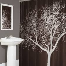 Kohls Double Curtain Rods by Brown And White Tree Shower Curtain Shower Curtain Pinterest