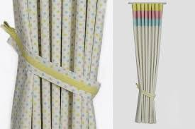 Custom handmade natural modern nursery curtains DottyStripes