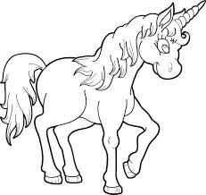 Printable Unicorn Coloring Page For Kids