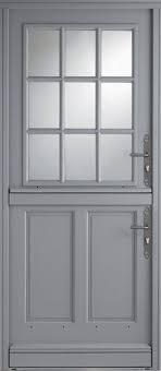 modèle isaac porte d entrée aluminium classique mi vitrée un