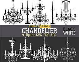 Chandelier SVG Clipart Files Light Lighting Svg