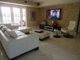 Elegant Modern Living Room Decor Ideas Wall Mount TV Design