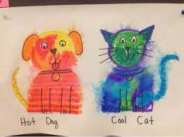 This Is The Perfect Easy Lesson For Kindergartners To Learn About Warm And Cool Colors We Started By Reading Book Dog School Do
