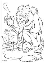 Full Image For Simba Needs Help Rafiki The Monkey Coloring Page Disney Pages Lion