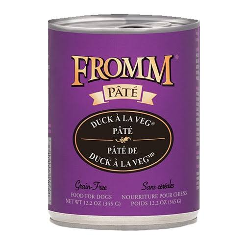 Fromm Gold Duck A La Veg Pate Canned Dog Food 12.2 oz