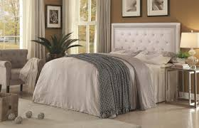 Diamond Tufted Headboard With Crystal Buttons by Andenne Headboard Diamond Tufting With Faux Crystal Buttons White