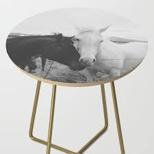 Horse Pair Side Table By Kevinruss