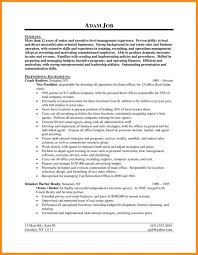 Realtor Resume Examples Resumes Example Sample Template Real