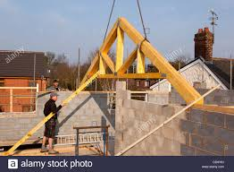 100 House Trusses Self Building House Constructing Roof Lifting First